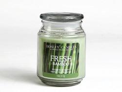 Hosley Fresh Bamboo Highly Fragranced, 18 Oz wax, Large Jar Candle