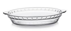 Cello Rosabella Round Glass Baking Dish, 850ml/22.5cm, Clear