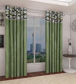 Home Candy Attractive Polyester 2 Piece Door Curtain Set - 84 x48  - Multicolor (SOE-CUR-542_542)
