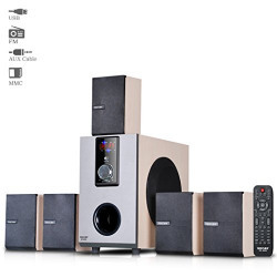 Truvison SE-5055 5.1 Multimedia Speaker System USB FM AUX MMC Playback Support Feature Superior Sound Clarity