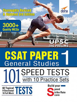 CSAT Paper 1 General Studies 101 Speed Tests with 10 Practice Sets - 3rd Edition
