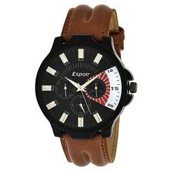 Espoir Decker Working Chronograph Analogue Black Dial Men's Watch - Vincent0507
