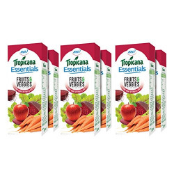 Tropicana Essentials Fruits & Veggies Juice 200ml each (Pack of 6)