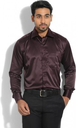 Raymond Men's Solid Party Purple Shirt