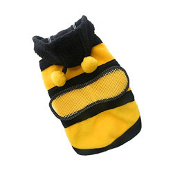 Generic Pet Hoodie Clothes Dog Cat Coat Puppy Apparel Fancy Bee Costume Outfit S