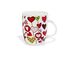 Clay Craft Valentine-5 Bone China Milk Mug, 350ml, Multicolour