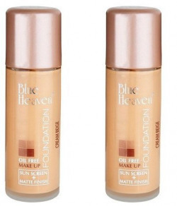 Oil Free Foundation Make Up + Matte Finish 30Ml (Pack Of 2)