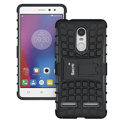 SeCro™ Lenovo K6 Power Armor cases Tough Rugged Shockproof Armorbox Dual Layer Hybrid Hard/Soft Slim Protective Case by SeCro - Black Armor Case