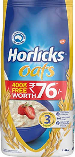 Horlicks Oats, 1Kg (With 400 g Free)