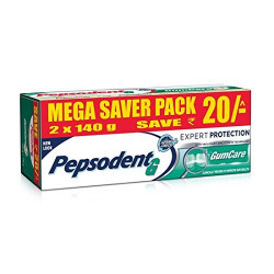 Pepsodent G Toothpaste - Gum Care - 2x140g Pack