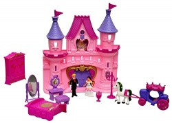 Toyshine Castle Doll House with Music, Lights, Accessories, Toy House
