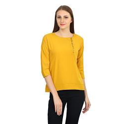 Funku Fashion Mustard Top FF-ZAYN079-Mustard-S_Yellow_Small