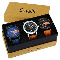 Cavalli Analogue Multi-Colour Dial Boy'S And Men'S Watch-Combo Of 3 Exclusive Watches-CAV315