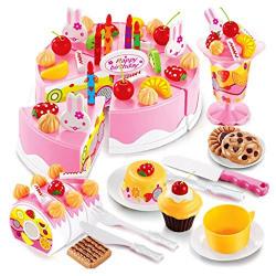 Saffire Musical DIY Birthday Cake Toy, 75 Pieces