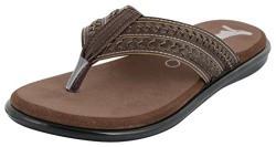 ESSENCE Men's Brown Thong Sandals - 6 UK