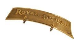 AllExtreme Brass Front Fender Plate Royal Enfield-Golden & Black- For Royal Enfield Bikes - Golden