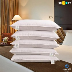 Snoopy Crazy Reliance Fibre Filled Pillows 110 GSM Pack of 5 Platinum Series (17 x 27 Inches)