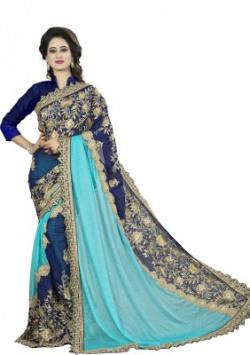 Aashvi Creation Embroidered, Self Design Fashion Georgette, Lycra Saree