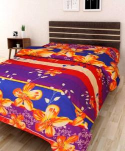 IWS Polycotton 3D Printed Single Bedsheet at 169 Rs