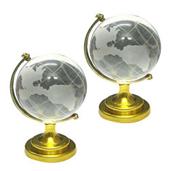 Divya Mantra Combo of Two Feng Shui Crystal Globes For Success