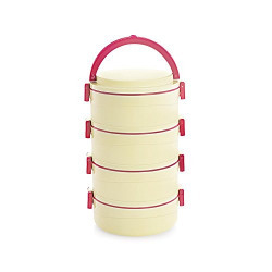 Cello Amaze Insulated 4 Container Lunch Carrier, Red