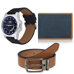 Laurels Men's Combo Pack of Watch, Wallet & Belt (Cp-Nxn-0303-Dxtr-0306-Vt-0209)