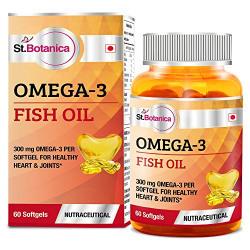 St.Botanica Omega 3 Fish Oil 1000mg (180EPA, 120 DHA) - 60 Softgels