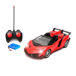 Wembley High Speed 1:16 Remote Control Lamborghini Veneno with Lights, Batteries and Charger - RED