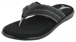 ESSENCE Men's Black Thong Sandals - 6 UK