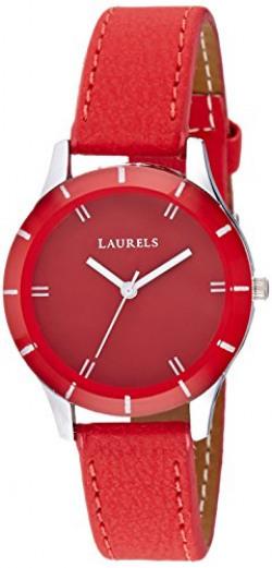 Laurels Colors Analog Red Dial Women's Watch - Lo-Colors-1003