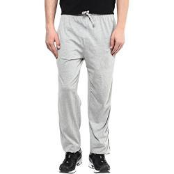 American Crew Men's Soild Grey Melange Trackpants - M (ACTF114-M)