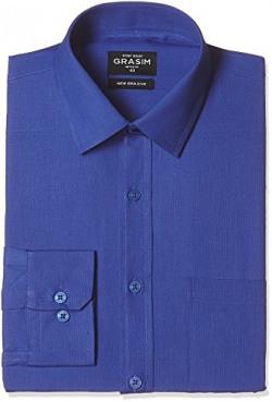 Grasim Men's Formal Shirt (8907285116780_X004_44_Royal Blue)