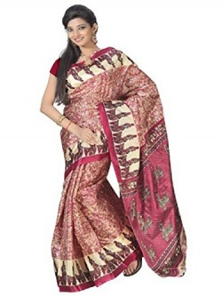 Florence Saree without Blouse Piece (FL-1317-D_Multicolored_Free Size)