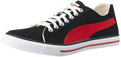 Puma Unisex HipHop5Ind. Black and High Risk Red Sneakers - 7 UK