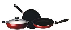Macclite - Non Stick Cookware - Set of 4 Pc - Tawa, Fry Pan, Kadai & Lid