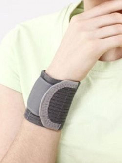 Tynor Wrist Brace With Double Lock Wrist Support (L, Grey)