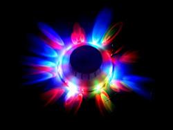 Tucasa DW-163 Revolving Multicolor Decorative Wall Light without Sensor