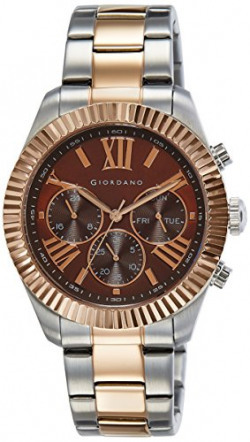 Giordano Analog Brown Dial Men's Watch - 1717-33