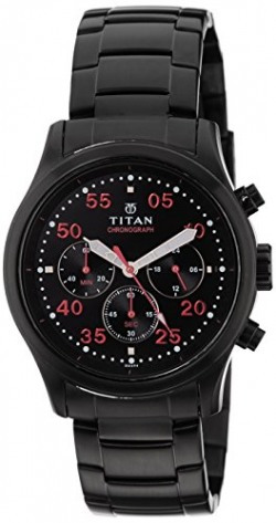 Titan Octane Chronograph Black Dial Men's Watch - 1634NM02