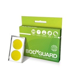Bodyguard Premium Natural Anti Mosquito Patches - 20 Patches (1 Pack)