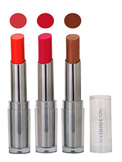 Intense Matte Lipstick,Pink,Dark Brown,Shimmer Mazanta