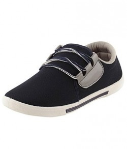 Maddy Men's Black Canvas sneaker Shoes Size- 6