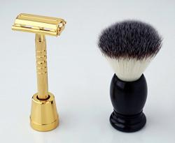 FATHERS DAY GIFT-Pearl Shaving Men's/Boy's Razor & Brush Sets SRS-LS01GOLD11