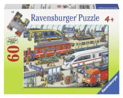 Ravensburger Puzzles Railway Station, Multi Color (60 Pieces)