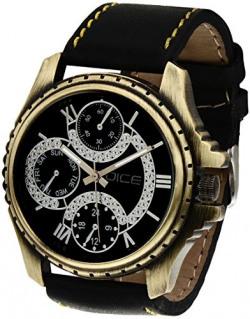 Dice Men's Analogue Black Dial Watch - EXPB-B077-2516