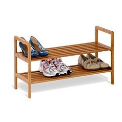 Honey-Can-Do 2-Tier Bamboo Shoe Shelf (Bamboo)