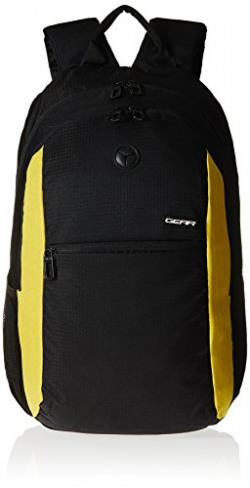 Gear Polyester 19 Ltrs Sport Black Casual Backpack (BKPECONO10112)