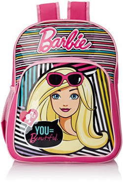 Barbie Pink and Purple Children's Backpack (Age group :6-8 yrs)