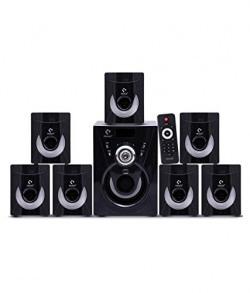 I Kall 7.1 Channel TA-777 Portable Home Audio Speaker System - Black