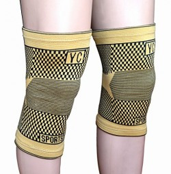 FeldSpar Stretchable Knee Support Free Size - Tube Type Knee Cap (Pack of 2 Piece )